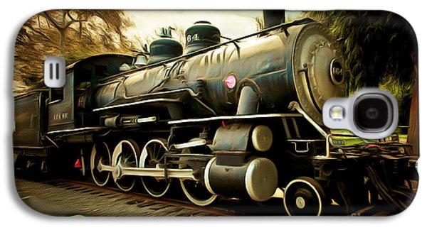 Vintage Steam Locomotive 5d29122brun Galaxy S4 Case by Home Decor