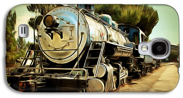 Vintage Steam Locomotive 5d29135brun Galaxy S4 Case by Home Decor