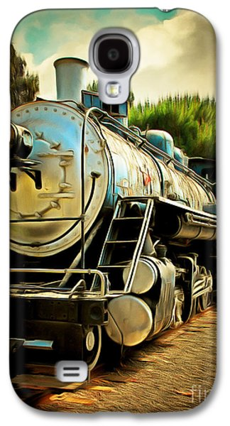 Vintage Steam Locomotive 5d29138brun Galaxy S4 Case by Home Decor