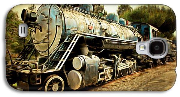 Vintage Steam Locomotive 5d29142brun Galaxy S4 Case by Home Decor