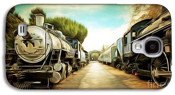 Vintage Steam Locomotive 5d29143brun Galaxy S4 Case by Home Decor