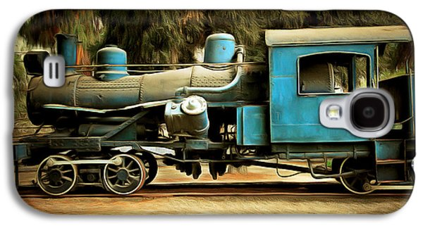 Vintage Steam Locomotive 5d29167brun Galaxy S4 Case by Home Decor