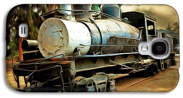Vintage Steam Locomotive 5d29172brun Galaxy S4 Case by Home Decor