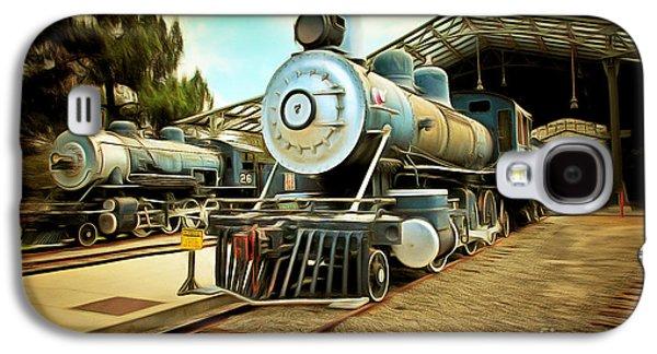 Vintage Steam Locomotive 5d29179brun Galaxy S4 Case by Home Decor