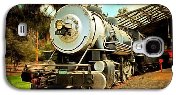 Vintage Steam Locomotive 5d29200brun Galaxy S4 Case by Home Decor
