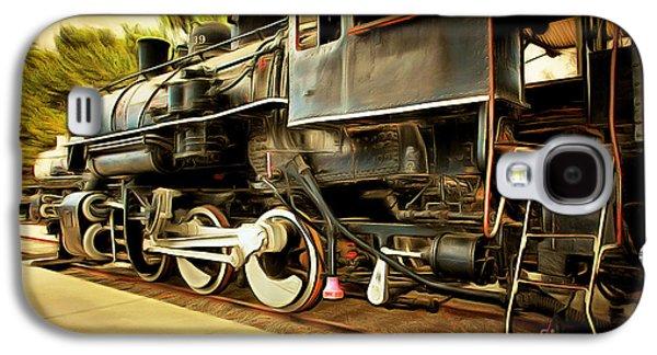Vintage Steam Locomotive 5d29222brun Galaxy S4 Case by Home Decor