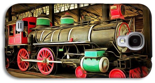 Vintage Steam Locomotive 5d29244brun Galaxy S4 Case by Home Decor