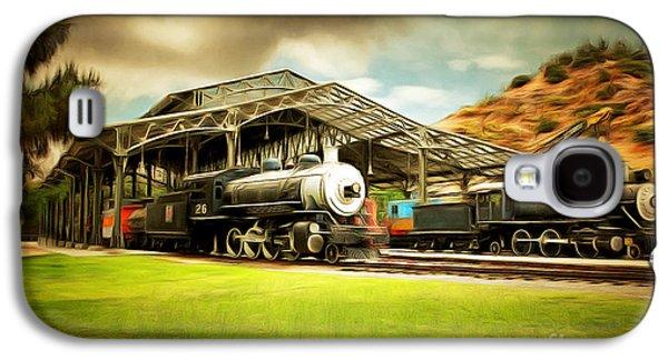 Vintage Steam Locomotive 5d29279brun Galaxy S4 Case by Home Decor