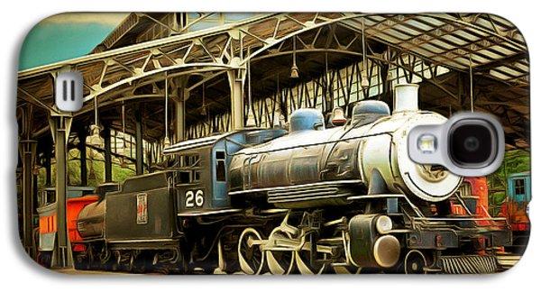 Vintage Steam Locomotive 5d29281brun Galaxy S4 Case by Home Decor
