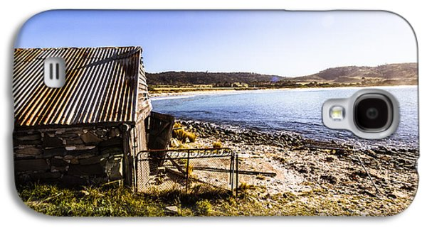 Vintage Stone Beach Cabin  Galaxy S4 Case by Jorgo Photography - Wall Art Gallery