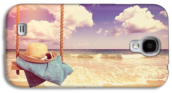 Vintage Summer Postcard Galaxy S4 Case by Amanda Elwell