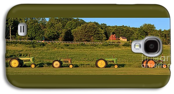 Vintage Tractors Sunset Panoramic Galaxy S4 Case