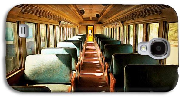 Vintage Train Passenger Car 5d28306brun Galaxy S4 Case by Home Decor