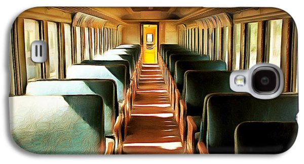 Vintage Train Passenger Car 5d28306brun Square Galaxy S4 Case by Home Decor
