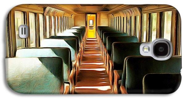 Vintage Train Passenger Car 5d28306brun Square Galaxy S4 Case