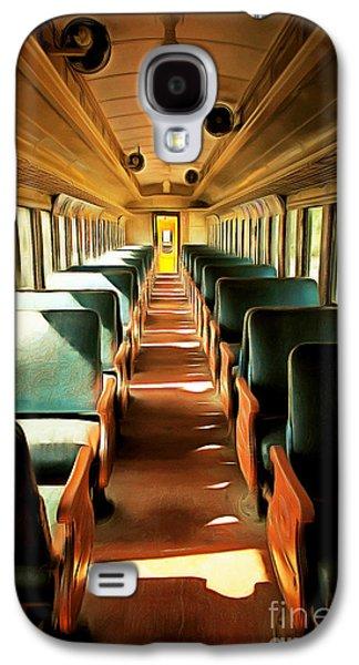 Vintage Train Passenger Car 5d28307brun Galaxy S4 Case by Home Decor