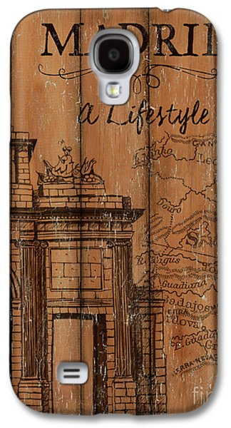 Vintage Travel Madrid Galaxy S4 Case by Debbie DeWitt