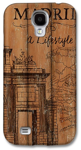 Travel Galaxy S4 Case - Vintage Travel Madrid by Debbie DeWitt