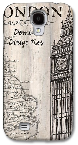 Vintage Travel Poster London Galaxy S4 Case by Debbie DeWitt