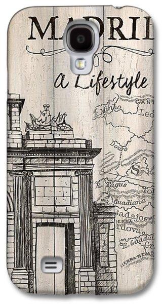 Vintage Travel Poster Madrid Galaxy S4 Case by Debbie DeWitt