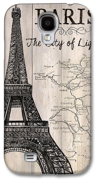 Vintage Travel Poster Paris Galaxy S4 Case by Debbie DeWitt