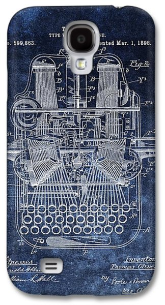 Vintage Typewriter Patent Galaxy S4 Case by Dan Sproul