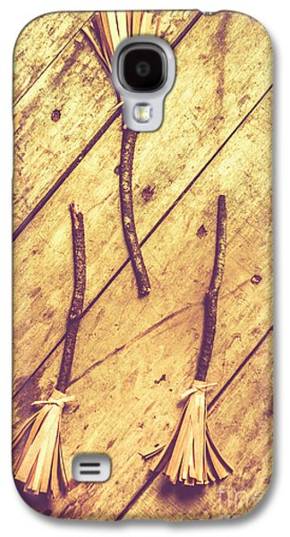 Vintage Witches Broomsticks Galaxy S4 Case by Jorgo Photography - Wall Art Gallery