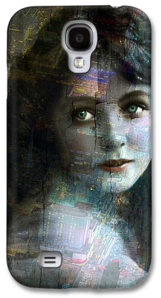 Vintage Woman Pop With Modern Highlights Sepia Vertical  Galaxy S4 Case