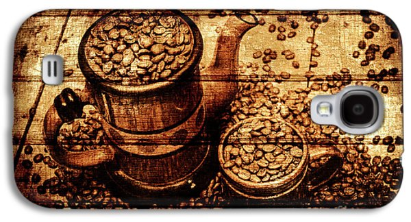Vintage Wooden Coffee Shop Sign Galaxy S4 Case by Jorgo Photography - Wall Art Gallery