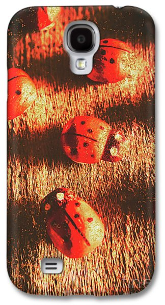 Vintage Wooden Ladybugs Galaxy S4 Case