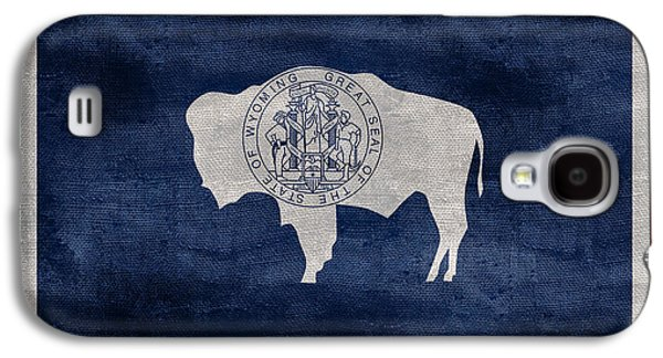 Vintage Wyoming Flag Galaxy S4 Case by Jon Neidert