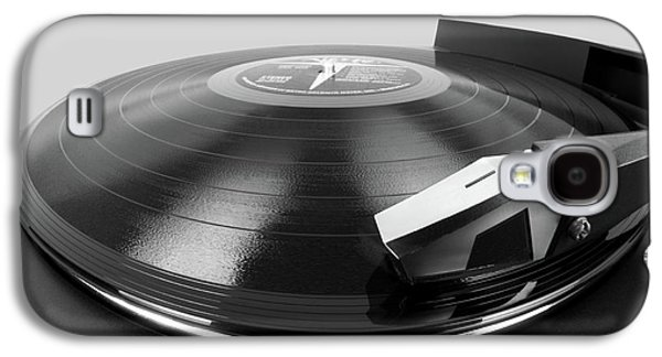 Vinyl Lp And Turntable Galaxy S4 Case by Jim Hughes
