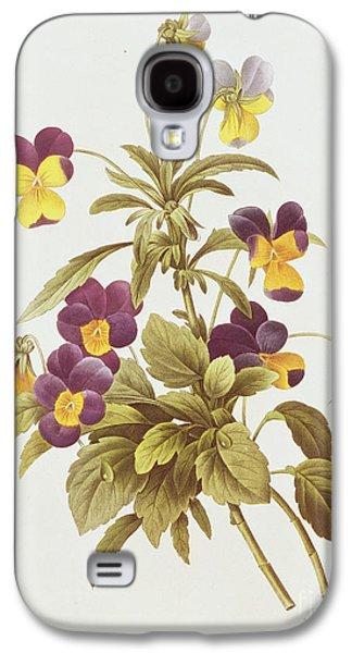 Viola Tricolour  Galaxy S4 Case by Pierre Joseph Redoute