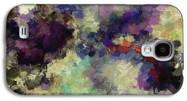 Violet Landscape Painting Galaxy S4 Case by Ayse Deniz