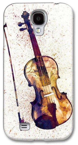 Violin Abstract Watercolor Galaxy S4 Case