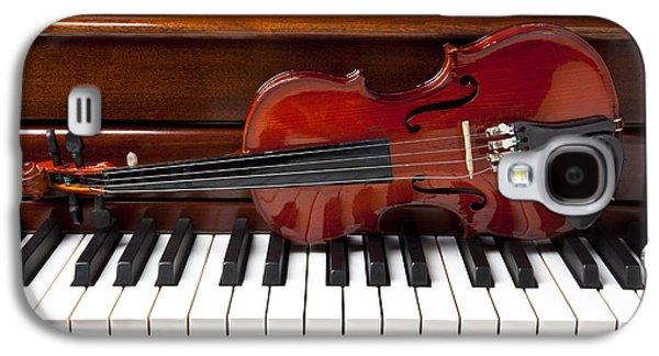 Violin On Piano Galaxy S4 Case by Garry Gay