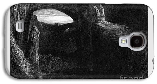 Virgil And Dante Entering Hell Galaxy S4 Case by Gustave Dore