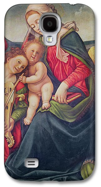 Virgin And Child And Angel Musicians  Galaxy S4 Case by Piero di Cosimo