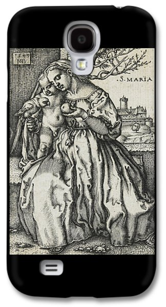 Virgin And Child With A Parrot Galaxy S4 Case
