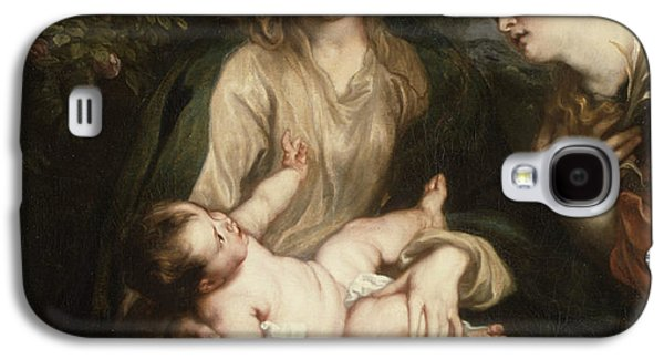 Virgin And Child With Saint Catherine Of Alexandria Galaxy S4 Case