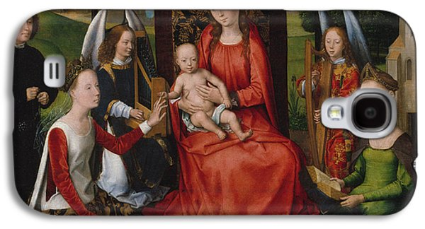 Virgin And Child With Saints Catherine Of Alexandria And Barbara, 1480 Galaxy S4 Case