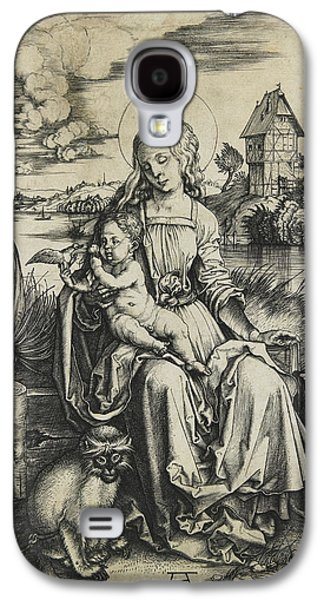 Virgin And Child With The Monkey Galaxy S4 Case