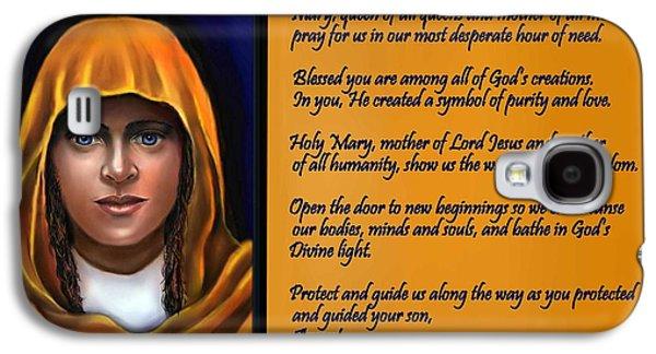 Spiritual Virgin Mary And Prayer Galaxy S4 Case by Carmen Cordova