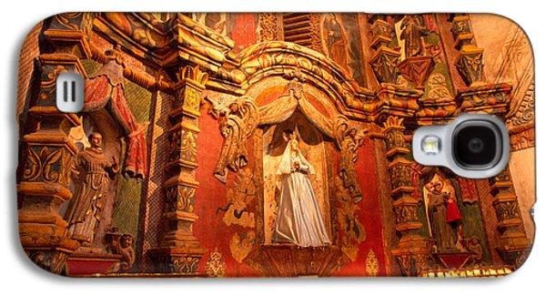 Virgin Mary Statue Candles Mission San Xavier Del Bac Galaxy S4 Case by Thomas R Fletcher