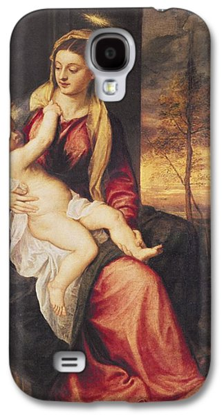 Virgin With Child At Sunset Galaxy S4 Case by Titian