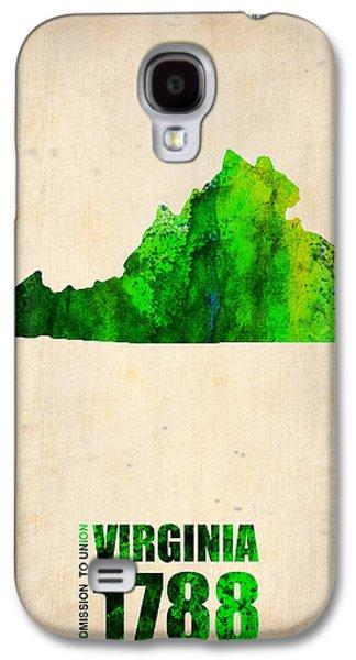 Virginia Watercolor Map Galaxy S4 Case by Naxart Studio