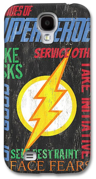 Virtues Of A Superhero 2 Galaxy S4 Case by Debbie DeWitt
