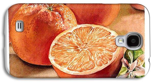 Printmaking Galaxy S4 Cases - Vitamin C Galaxy S4 Case by Irina Sztukowski