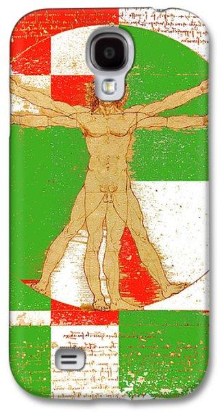 Vitruvian Man In Color Galaxy S4 Case