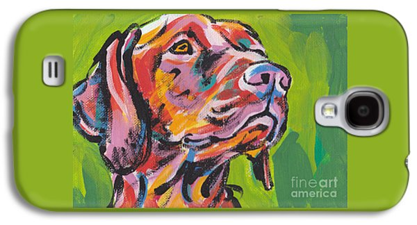 Dog Galaxy S4 Case - Viva La Vizsla by Lea S